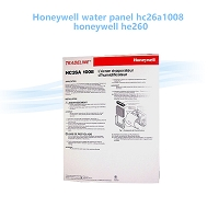 Honeywell water panel hc26a1008 / honeywell he260