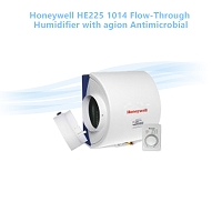 Honeywell HE225 1014 Flow-Through Humidifier with agion Antimicrobial