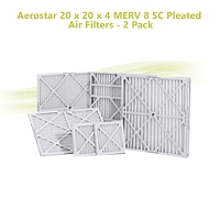 Aerostar 20 x 20 x 4 MERV 8 SC Pleated Air Filters - 2 Pack