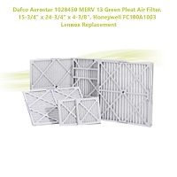 Dafco Aerostar 1028450 MERV 13 Green Pleat Air Filter. 15-3/4