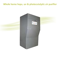 Whole home hepa, uv & photocatalytic air purifier