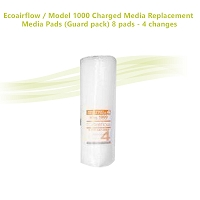 Ecoairflow / Model 1000 Charged Media Replacement Media Pads (Guard pack) 8 pads - 4 changes