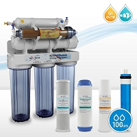 6 Stage 100GDP 0ppm RO/DI Reef Marine Aquarium Hydroponics Reverse Osmosis System