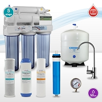 5 stage LCD Reverse Osmosis System with Filter Replacement Signal