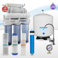 10-stage Alkaline/Mineral/Infrared Reverse Osmosis Water System