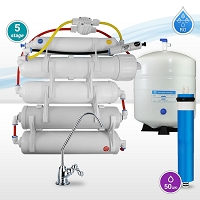 5-stage Under-sink/Wall mounted Reverse Osmosis System