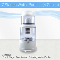 7-Stage Counter-top Gravity Water Filter (4 Gallon/14L Capacity)