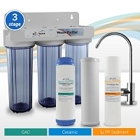 3-stage Sediment/Ceramic/GAC Water Purifier