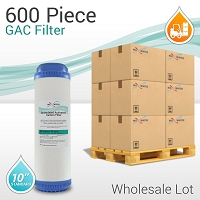 Wholesale 600 Pcs GAC Granular Coconut Shell Carbon Filter NSF Certified