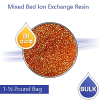 Mixed Bed Ion Exchange DI Resin for RO Aquarium  - 1½ Lbs