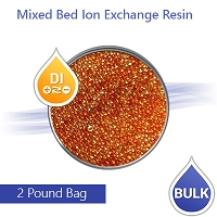 Mixed Bed Ion Exchange DI Resin for RO Aquarium  - 2 Lbs