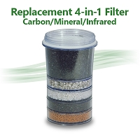 4 in 1 mineral infrared carbon water filter compatible with zen countertop purifier