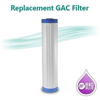 Big Blue Granular Activated Carbon (GAC) Water Filter - size 20