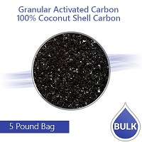 Granulated Activated Carbon for Air/Water Filters - 100% Coconut Shell Carbon - 5 Lbs