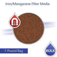 Iron/Manganese Water Filter Media - 7 Lbs Refills a 20 x 4.5