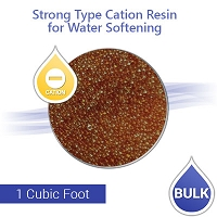 Strong Cation Resin for Hardness Reduction and Water Softening - 1 Cubic Foot