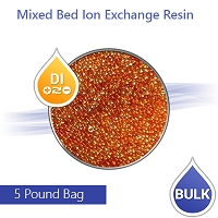 Virgin mixed bed DI resin 5 lbs for Aquariums, Car wash, pure water window cleaning systems