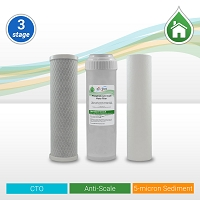 Whole House/RO Pre-filter Replacement Set 5µ Sed/Anti-Scale/CTO