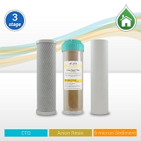 Whole House/RO Pre-filter Replacement Set 5µ Sed/Anion-Tannis/CTO