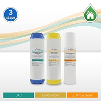 Whole House/RO Pre-filter Replacement Set 5µ Sed/Cation/GAC