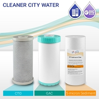 "10"" Big Blue Cleaner City Water Filter Set (3-pack)"