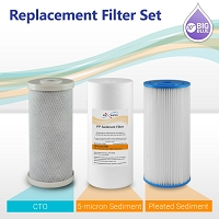 "10"" Big Blue Lake, Cottage & Well Filter Set (3-pack)"