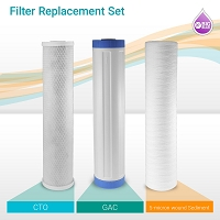 "20"" Big Blue Wound Sediment GAC CTO Water Filter Set (6-pack)"