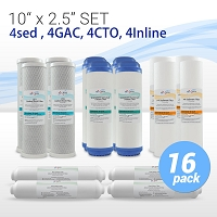 "10"" Standard Universal Reverse Osmosis Replacement Set - 4 Sets"