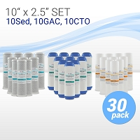 Whole House/RO Pre-filter Replacement Set 5µ Sed/GAC/CTO -10 sets