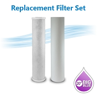 Big Blue Sediment/Carbon Block Filter Pack - Size 4.5 x 20