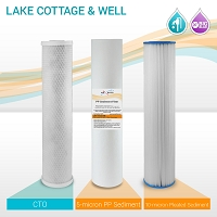 "20"" Big Blue Lake, Cottage & Well Filter Set (3-pack)"
