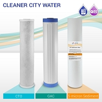 "20"" Big Blue Cleaner City Water Filter Set (3-pack)"