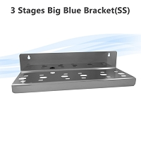 Stainless Steel 3 Stages Big Blue Whole House Filter Housing Bracket N Type fits single O Ring Housings