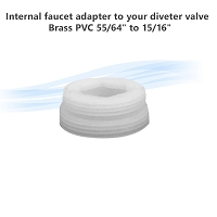 Internal faucet adapter to your diveter valve , PVC. 55/64