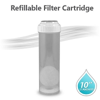 "10"" Standard Refillable Cartridge (Empty/White Cap)"