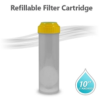 "10"" Standard Refillable Cartridge (Empty/Yellow Cap)"
