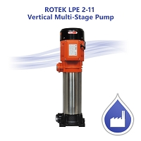 ROTEK LPE 2-11 Vertical Multi-Stage Pump