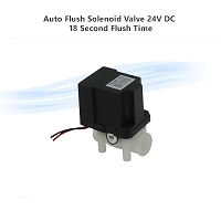 Auto Flush Solenoid Valve 24V DC 18 Second Flush Time,  1/4
