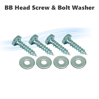 Big Blue Housing Heads 3/8 x 1-1/2 Lag Screw Zinc +  5/16 Bolt Washer Zinc (4  of each)
