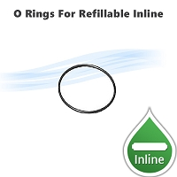 2 replacement clear O-Rings for refillable inline filter 105804  housing cup