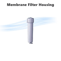 Reverse osmosis membrane filter housing.