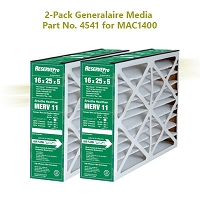 Generalaire Part GF 4541 For 16 X 25 X 5 Mac 1400, Package of 2 filters