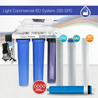 Light Commercial Reverse Osmosis System 200 GPD