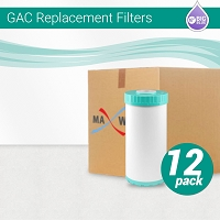 12 x GAC T33 Coconut Shell Carbon Filter size 10