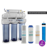 5 Stage 50GPD Drinking Reverse Osmosis System with 5 filters / without tank and faucet