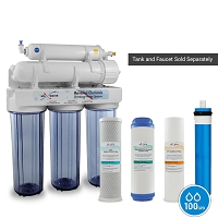 5 Stage Drinking Reverse Osmosis System with 100 GPD / without tank and faucet