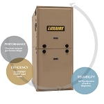 Luxaire Central Home Forced Air Heating Furnace System Model TM9E