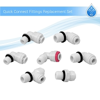 Reverse Osmosis System Quick-Connect Fittings Replacement Kit