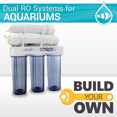 Build Your Own Dual Membrane Waste Saver Aquarium RO DI R Cannbis Reverse Osmosis System