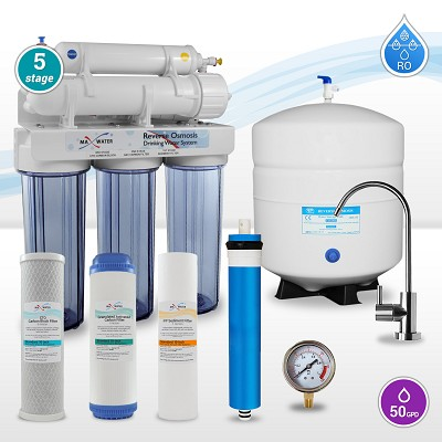 5 Stage 50 GDP Home Drinking Water Reverse Osmosis System